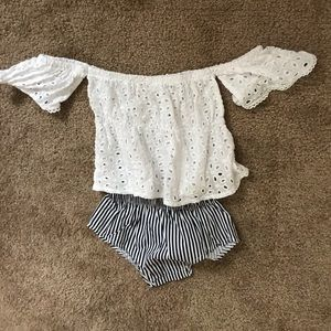 Off Shoulder Top and Bloomers